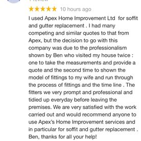 review for apex home improvement